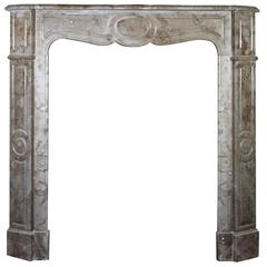 19th Century Antique Fireplace Mantel in Marble