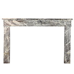 18th Century European Gris d'Ardenne Classic Marble Antique Fireplace Surround
