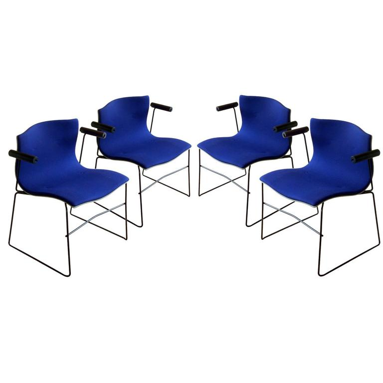 Set of Four Handkerchief Armchairs by Massimo Vignelli for Knoll