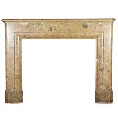 Late 19th Century Color Marble Fireplace Mantle