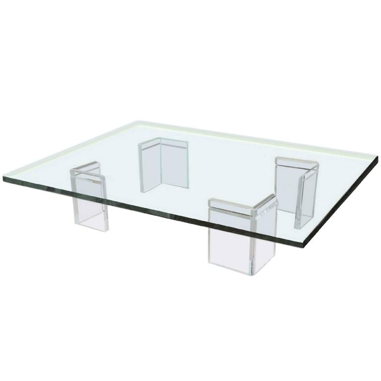 Lucite Cocktail Table by Leon Frost for Lion in Frost