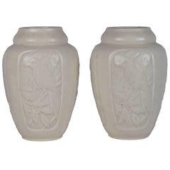 20th Century Ivory Rookwood Baluster Vases