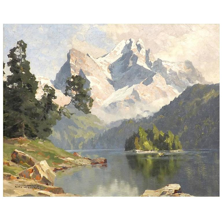 'Am Eibsee, Bavaria' by Munich School Artist Hans Maurus