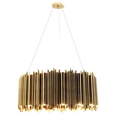 Chandelier Brass Tubes with Gold-Plated Brass Tubes