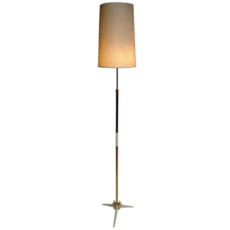 Unique Mid Century Modern Brass Floor Lamp At 1stdibs