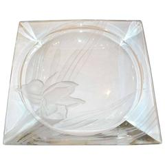 1940s, Dorothy Thorpe Signed Glass Tray