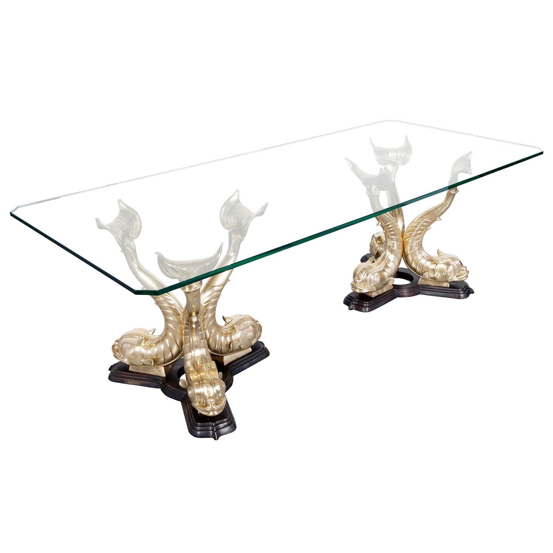 Monumental italian koi fish dining table for sale at 1stdibs for Koi furniture