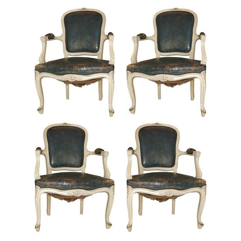 Louis XV Style Fauteuils, Set of Four 1