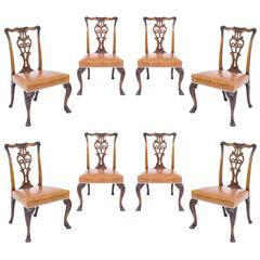 Set of Eight Irish 18th Century Style Dining Chairs