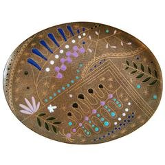 Enameled Copper-Plate by Miguel Pineda, circa 1960