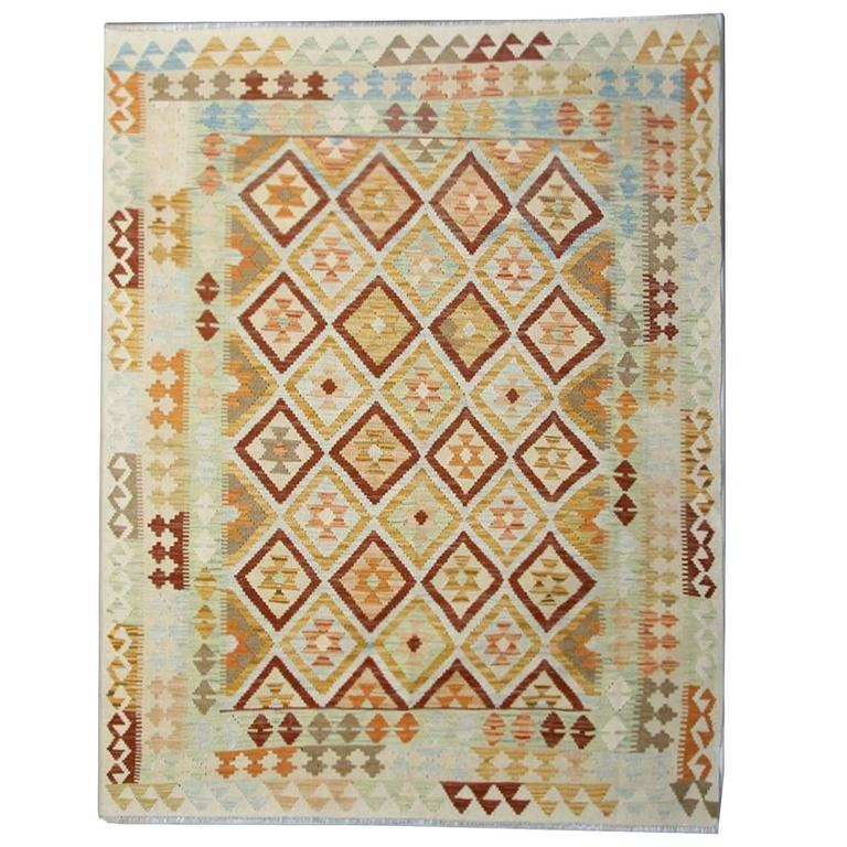 Kilim rug with geometrical designs at 1stdibs for Kilim designs