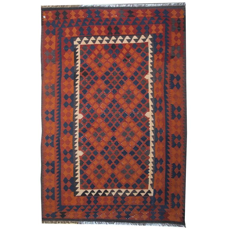 Persian rugs Modern Traditional Kllim Rugs From Afghanistan With Persian Rugs Geometrical Designs For Sale 1stdibs Traditional Kllim Rugs From Afghanistan With Persian Rugs