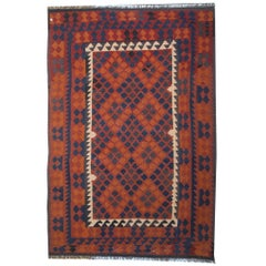 Traditional Kllim Rugs, Floor Area Rugs, with Persian Rugs Geometrical Designs