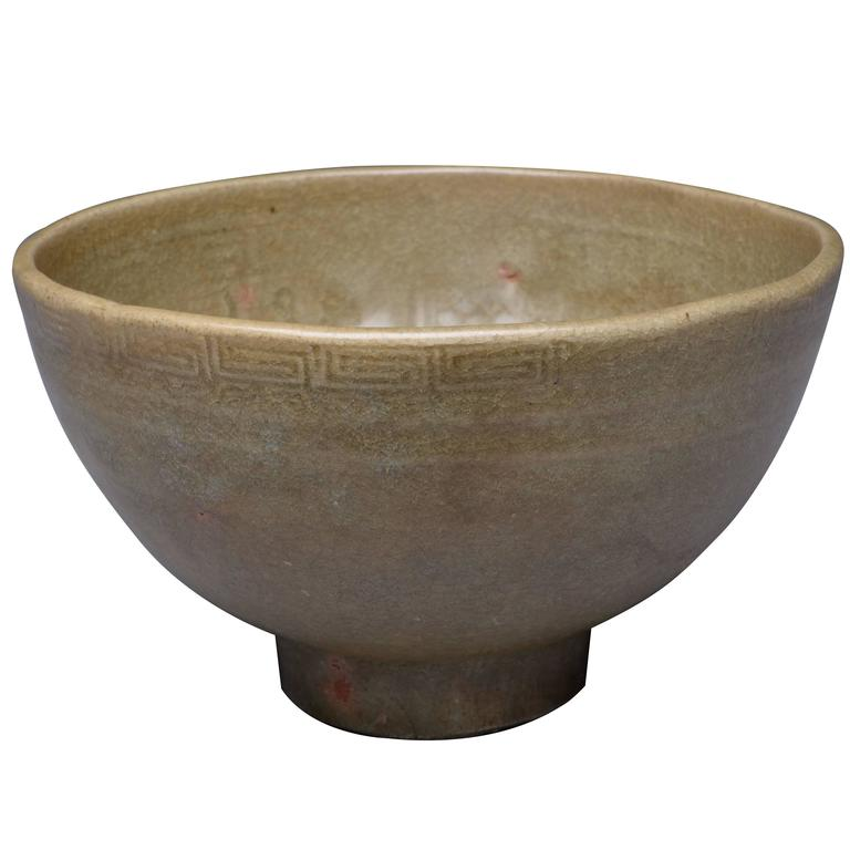 Antique Chinese Ming Dynasty Longquan Bowl - 14th Century