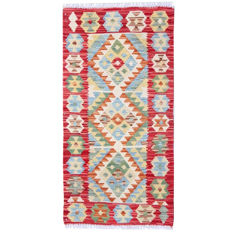Vintage Mexican Zapotec Rug In Small Size With Stylized: Kilim Rug At 1stdibs