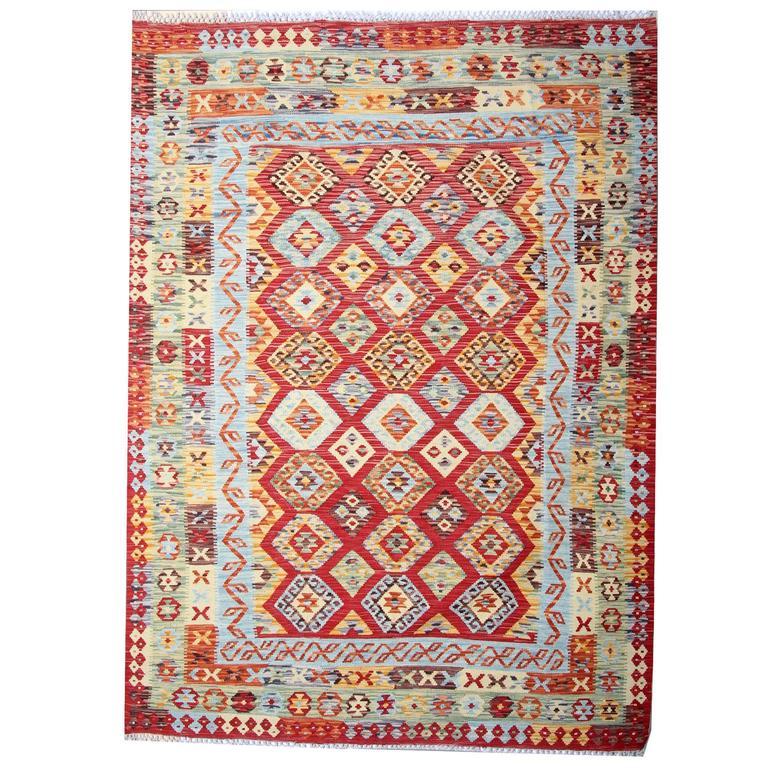Afghan Kilim Rug Hand Woven For Sale At 1stdibs