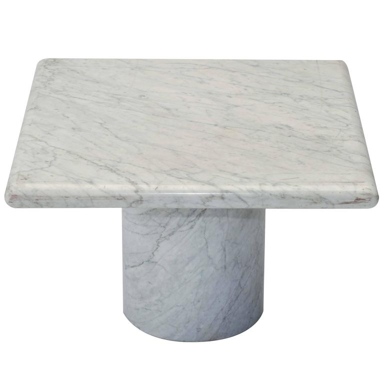 1970s Italian Solid Marble Side Table At 1stdibs