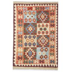 Afghan Kilim Rugs, Tribal rug, geometric rug from Afghanistan