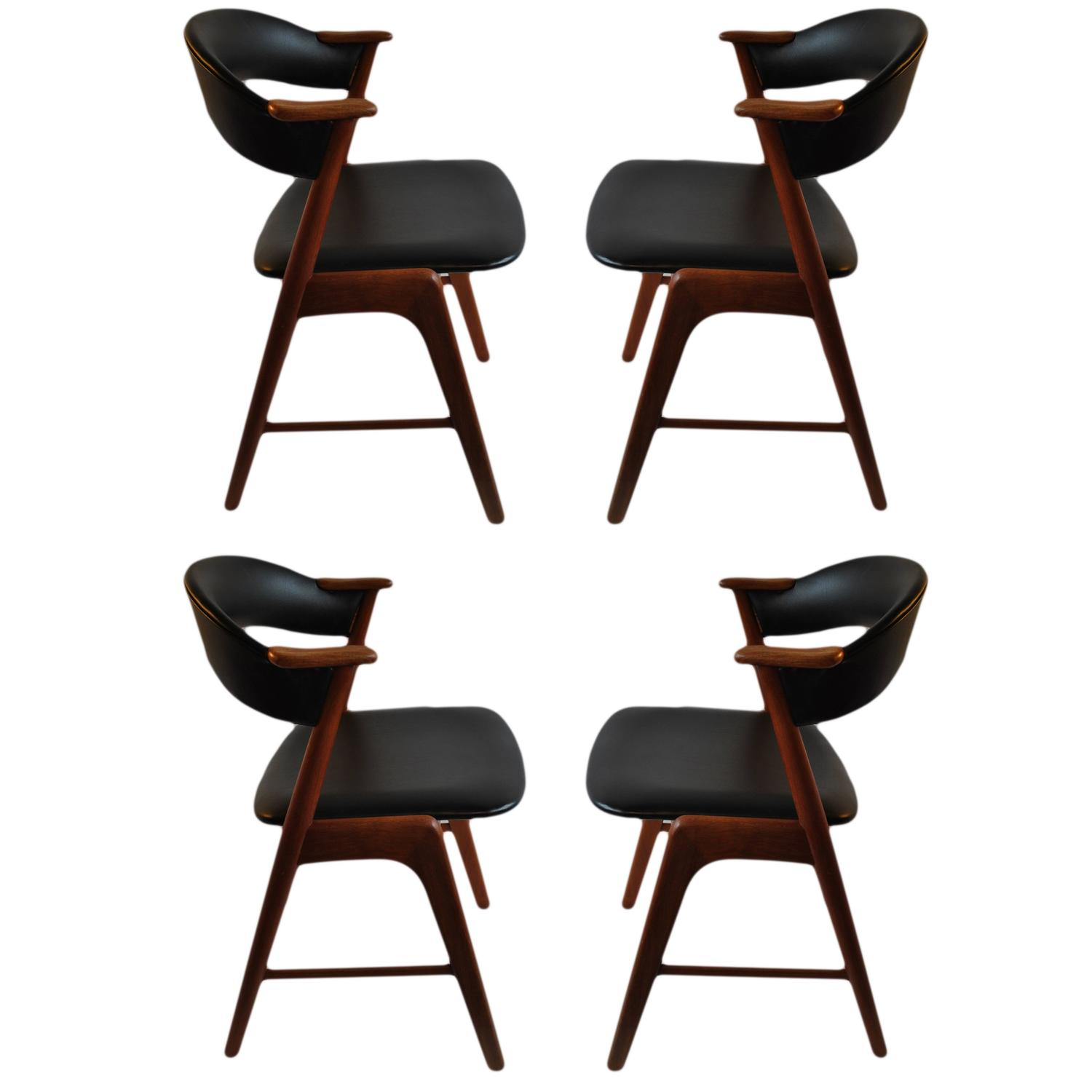 Kai Kristiansen Dining Chairs Set Of Four At 1stdibs