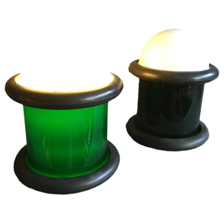 Pair of Holmegaard Epoke Lamps by Michael Bang For Sale