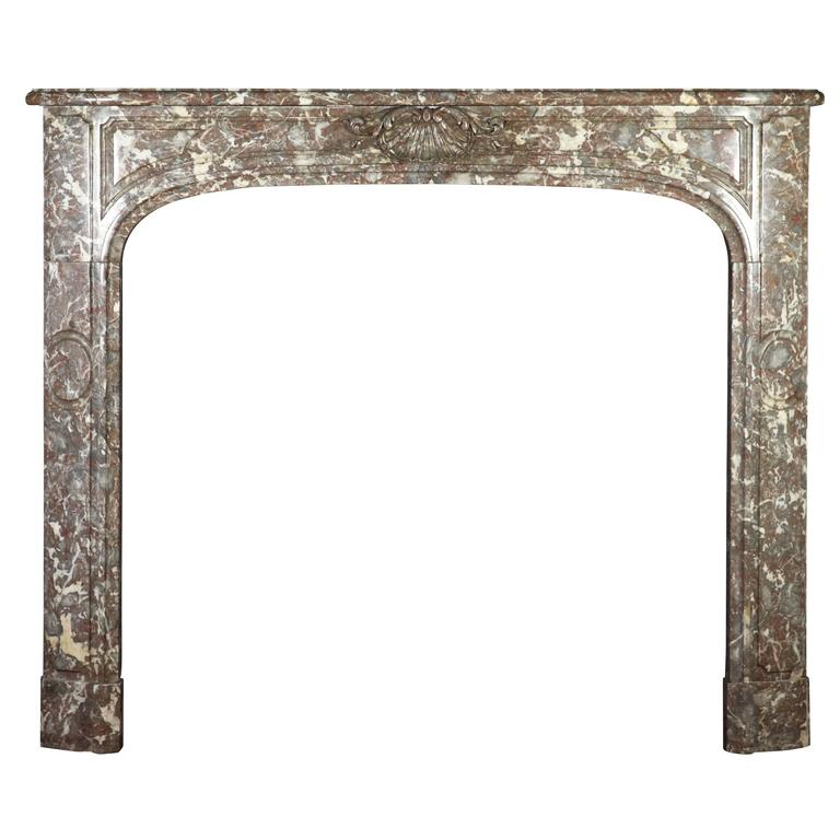 18th Century Belgian Marble Antique Fireplace Mantle from the Regency Period