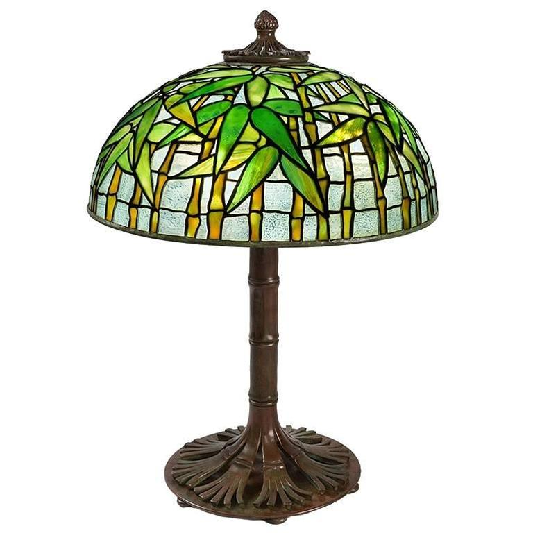 "Tiffany Studios ""Bamboo"" Table Lamp"