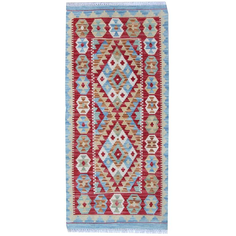 Blue Rug New Kilim Rugs, Traditional Rugs, Carpet from Afghanistan For Sale