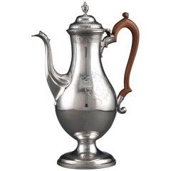 Hester Bateman Antique Sterling Silver Coffee Pot Large