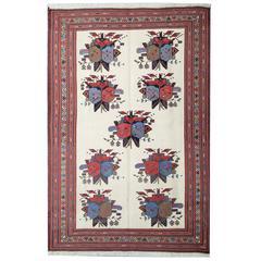 Kilim Rug, Persian Carpet, Handmade Rug Afshar Sumak