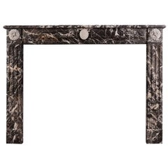 Louis XVI Style Fireplace Mantel in St Anne Des Pyrenees Marble