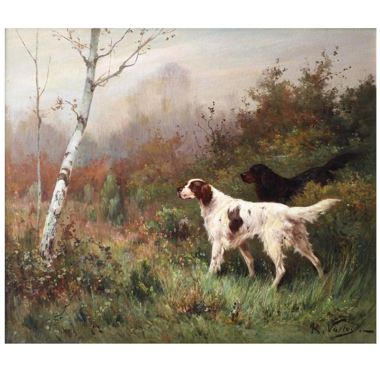 English Setter Oil Paintings