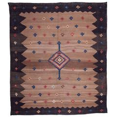 Late 19th Century, Camel Hair Ground Large Sofreh from Veramin People of Persia