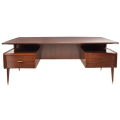 Executive Desk, attributed to G. Ulrich, Italy, 1950's