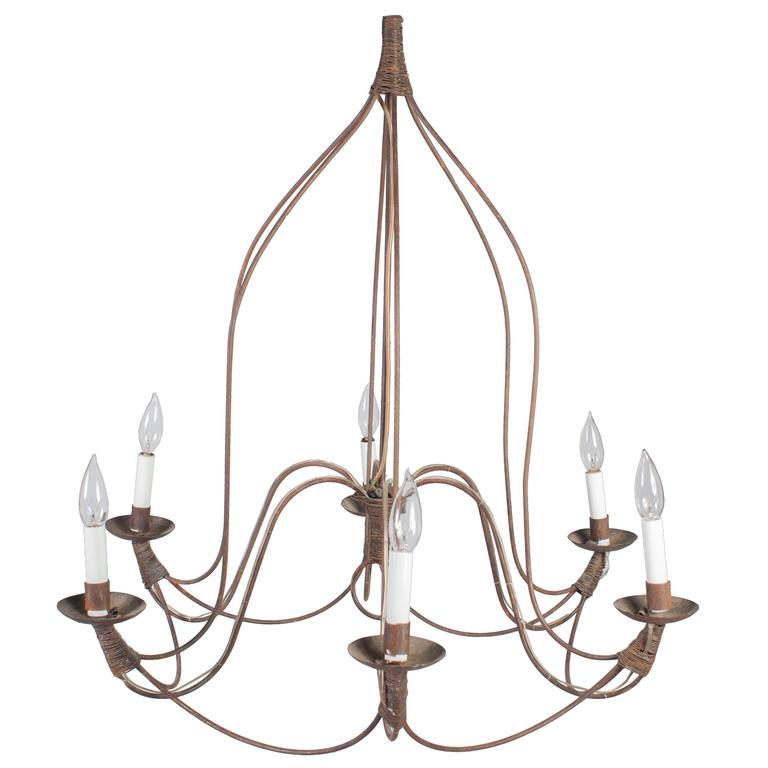 French Wire Chandelier For