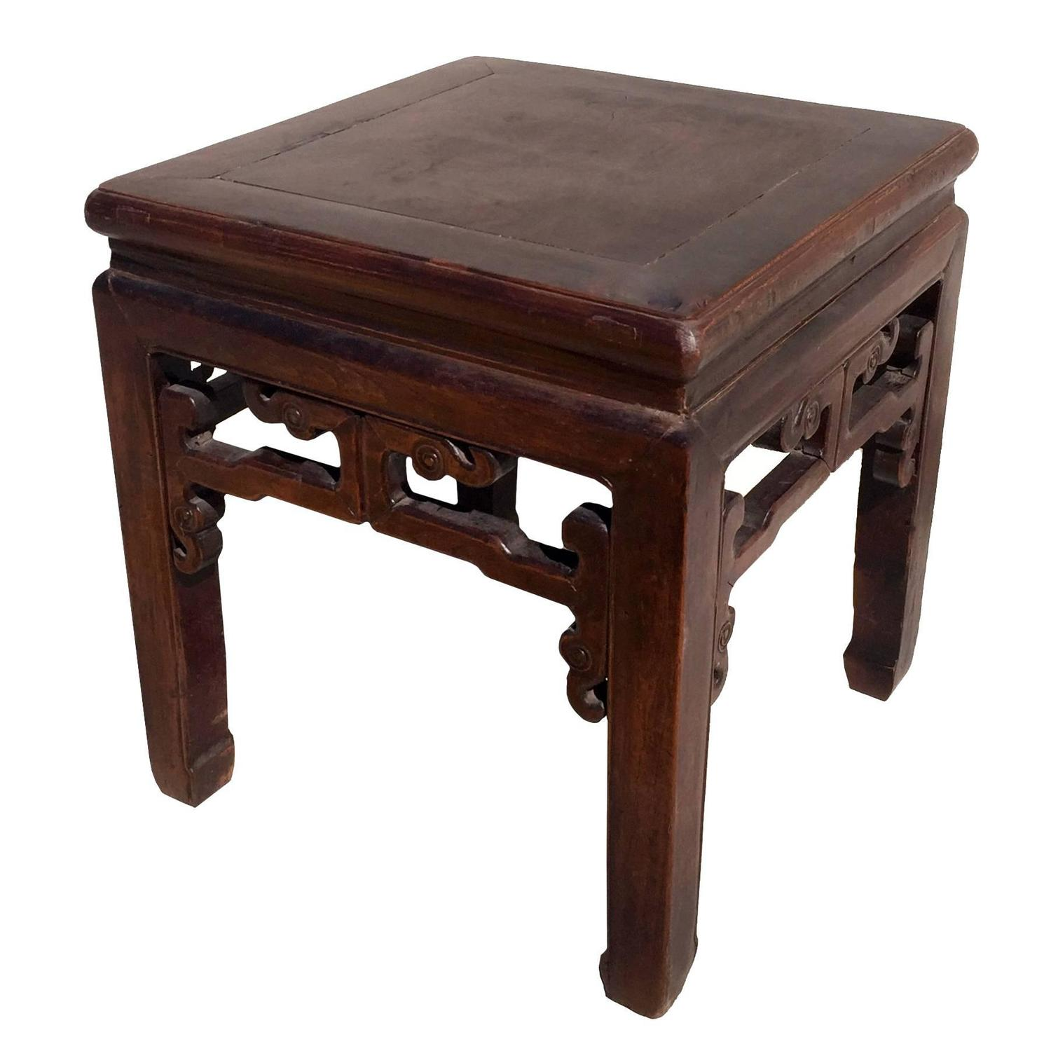 Table China: Antique Chinese Square Stool Or Small Table For Sale At