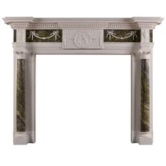 Statuary Marble Fireplace with Connemara Columns
