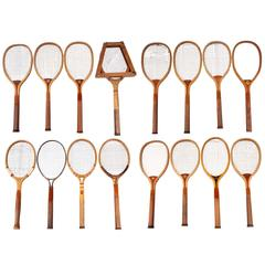 Collection of 16 Vintage Tennis Rackets