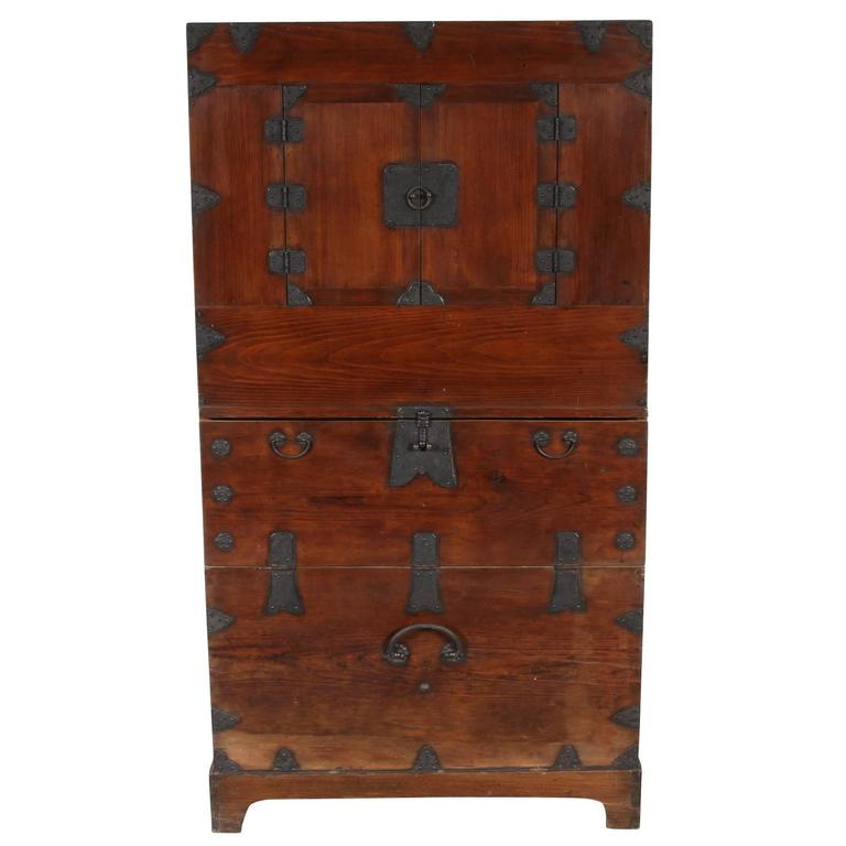 Early 20th Century Korean Tall Chest At 1stdibs
