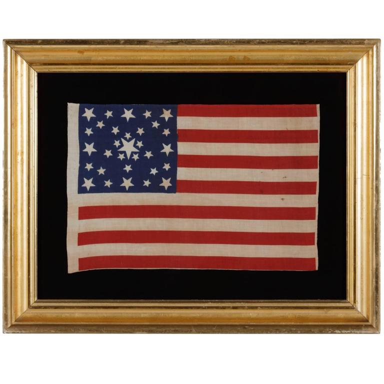 """31 Star Flag with Stars in a Starburst or """"Great Star-In-A-square"""" Pattern"""