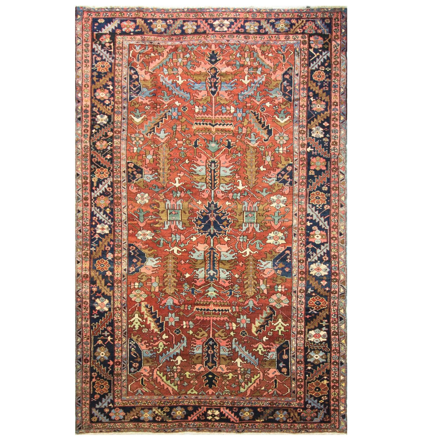 Antique Heriz Village Carpet For Sale At 1stdibs