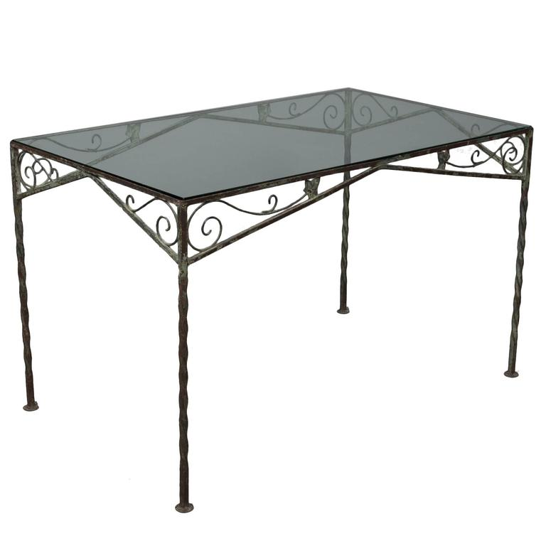Mid-Century Garden Table For Sale