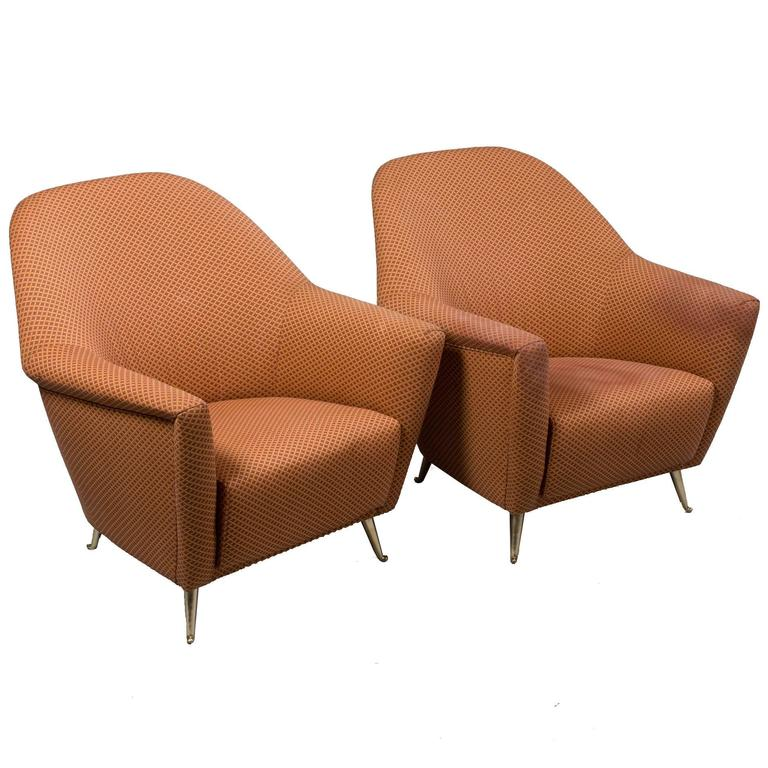 Mid-Century Italian Armchairs For Sale
