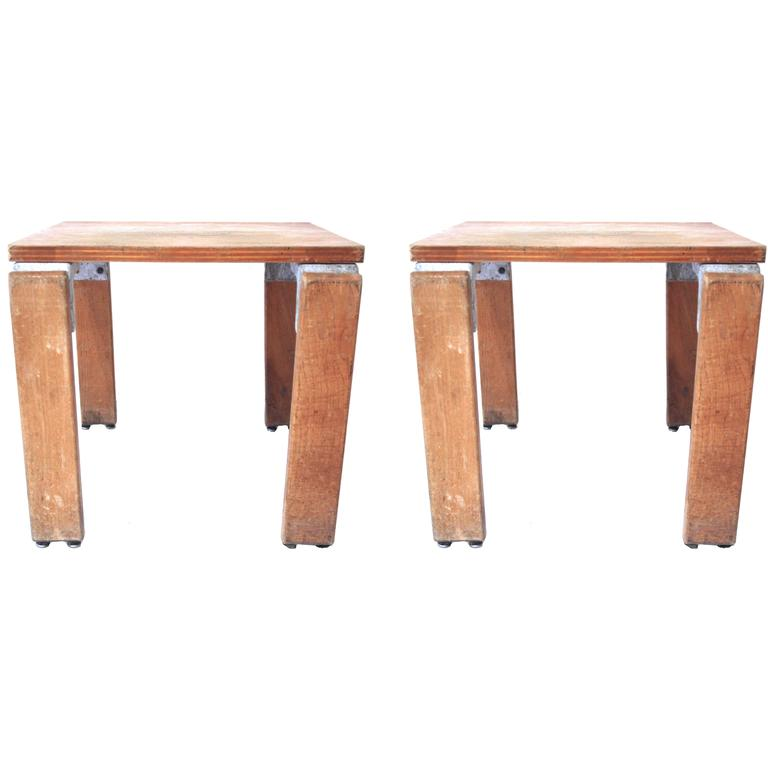 Georges Candilis and Anja Blomstedt Pair of Stools