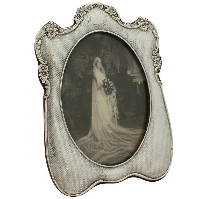 Sterling Silver Photograph Frame - Antique Edwardian