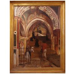 Interior of the Church of San Benedetto Signed Alphonse de Boisricheux, 1828