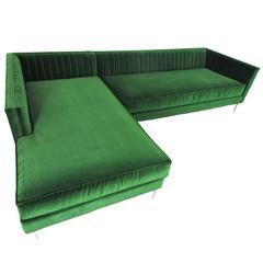 Emerald Velvet Sectional