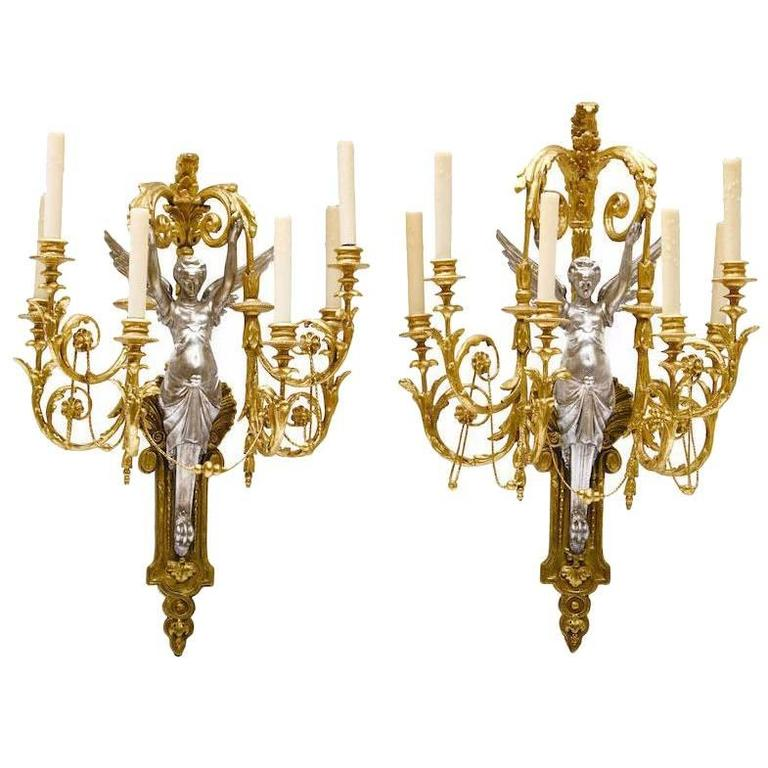 Pair Of French Neoclassical Style 19th Century Six-Light