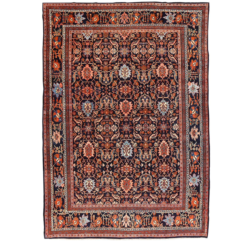 Retro Bedroom Chairs Persian Carpet Bedroom Blue Grey Bedroom Colour Scheme Bench Seat For Bedroom: Vintage Persian Bibikabad Rug For Sale At 1stdibs