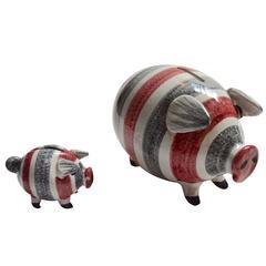 Pair of Raymor Piggy Banks