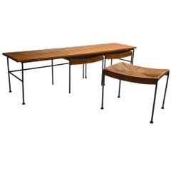 Arthur Umanoff Bench with Nesting Stools